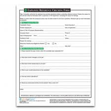 Employment Reference Checking Form Pre Employment And Hiring Form