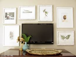 Wall Mounted Tv Frame Decorating Around A Tv 6 Inspiring Ideas First Apartment Checklist