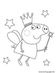 Small Picture Fairy Peppa Pig Coloring Pages Printable