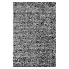 bellah hand loomed modern rug black