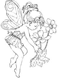 Fairy Coloring Pages For Adults Printable Kids Colouring With ...