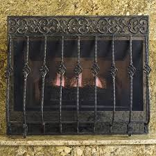 cast iron fireplace screen orangey cast iron fireplace screen with straight top traditional black cast iron