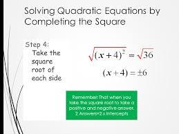 9 solving quadratic