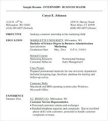 Sample Resume For Business Undergraduate Resume Sample For