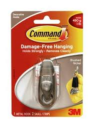 3m metal hooks. command™ brushed nickel small metal hooks 3m
