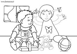 Bello Disegni Da Colorare Bambini A Scuola Giocano Migliori Pagine