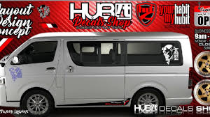 Toyota Hiace Sticker Design How To Create Personalized Customized Sticker For Toyota