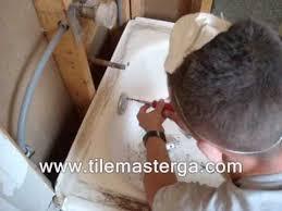 how to remove replace a bathtub plumbing drain bathroom installation bath tub atlanta