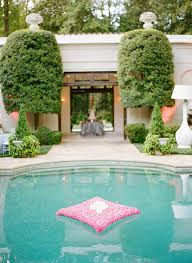 Fill the pool with floating candles, flowers or lanterns (a great selection  is available at LunaBazaar) Here is an inspiring gallery of floating  decorations ...