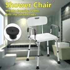 adjule medical bath shower chair bathtub bench seat stool armrest back white chairs elderly