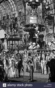 La regina Vittoria e il Principe Alberto aprendo la prima grande  esposizione , il 1 ° maggio 1851, azzuro Palace a Londra, Inghilterra Foto  stock - Alamy