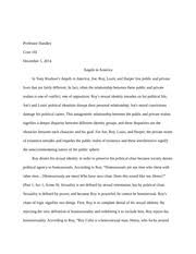 angels in america essay a look into the identity of roy cohn  5 pages angels in america essay