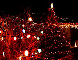 Light Tree Ppt Christmas Lights Christmas Lights With Tree Backgrounds