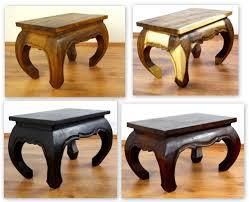 asian opium table small coffee table handmade thailand 58cm x 38cm