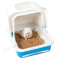 image covered cat litter. Covered Cat Box Favorite Enclosed Large Easy Clean White Litter Pan Hooded . Image