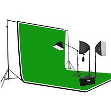 3pcs chromakey green black white muslin background backdrop support stand complete 3200 watt photography studio lighting kit h604sb2 69bwg