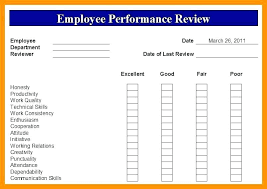 Performance Appraisal Template Self Examples Assessment Form For ...