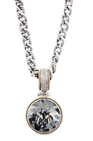 image of effy two tone green amethyst pendant necklace