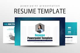 Resume Powerpoint Template Presentation Templates Creative Market