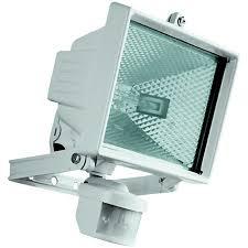 exterior flood light. wickes halogen white floodlight with pir - 400w r7s exterior flood light