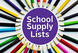 Résultats de recherche d'images pour «school supply lists»