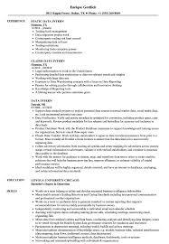 Data Intern Resume Samples Velvet Jobs