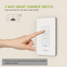 Best Three Way Smart Light Switch 3 Way Smart Dimmer Switch For Dimmable Led Lights Tessan Com