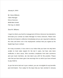 job termination letter due to lack of work how to write a termination letter to an employer