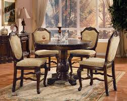 andreas 5 piece brown counter height dining room furniture round table chair set ebay