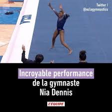 L'EQUIPE - Incroyable performance de la gymnaste Nia Dennis