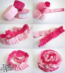 Making Flower Using Crepe Paper Ruffled Crepe Paper Flowers Tutorial From Todays Fabulous Finds