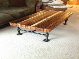 wood slab coffee table en legs uk wooden