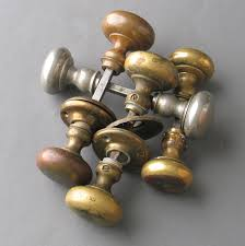 Antique door knob Victorian Historic Houseparts Antique Brass Door Knob Pairs