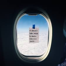 Airplane Quotes Enchanting Who's Leaving Anonymous Notes On Plane Windows