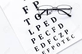 Eye Test Eye Examination Glasses With Transparent Optical Lenses