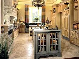 remarkable plates kitchen decor tile flooring with small gray island under chandelier in tuscan style lighting
