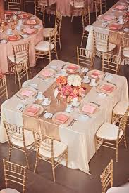 reception table ideas. Pink And Rose Gold Wedding Reception Table Ideas T