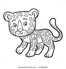 coloring book for children jaguar
