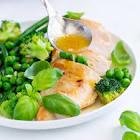 4 step zesty garlic chicken   veggies