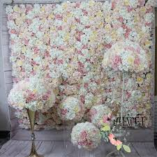 2018 panel 40x60cm artificial silk rose flower wall decorative birthday party or home decoration silk hydrangea wedding decoration backdrop from