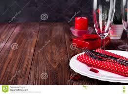 Candle Light Dinner Table Setting Romantic Candle Light Valentine Table Setting Stock Image