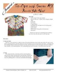 Tie Dye Mixing Chart From Jacquard