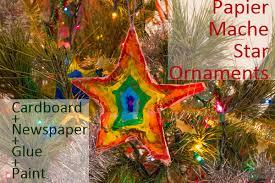 star ornaments with papier mache