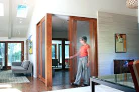 glass home office doors design ideas modern with sliding translucent bookcase