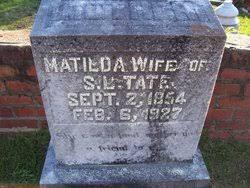 Matilda Wade Tate (1854-1927) - Find A Grave Memorial