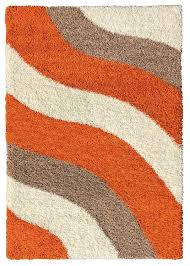 Amazon.com: Soft Shag Area Rug 7x10 Geometric Striped Orange Ivory Grey Shaggy  Rug - Contemporary Area Rugs for Living Room Bedroom Kitchen Decorative ...