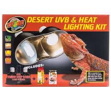 zoo med zoo med desert uvb heat lighting kit