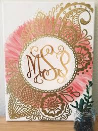 Canvas Design Ideas custom monogram canvas gold peach canvas designscanvas ideascanvas