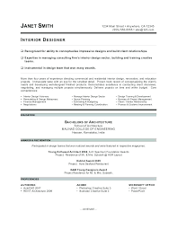 Designers Resume Interior Designer Resume Bitacorita