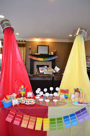 what a great art birthday party see more party ideas at catchmyparty com